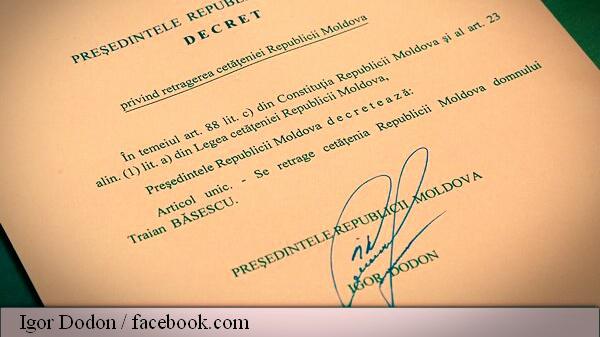 cetățenie Băsescu